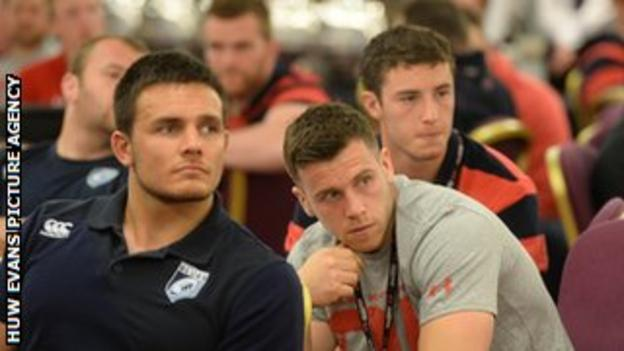 Players wait to see if they have made the Welsh squad
