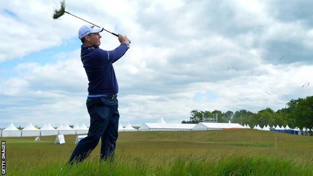Stephen Gallacher in action at the Nordea Masters