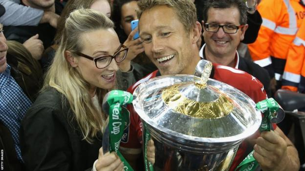 Jonny Wilkinson and wife Shelley Jenkins