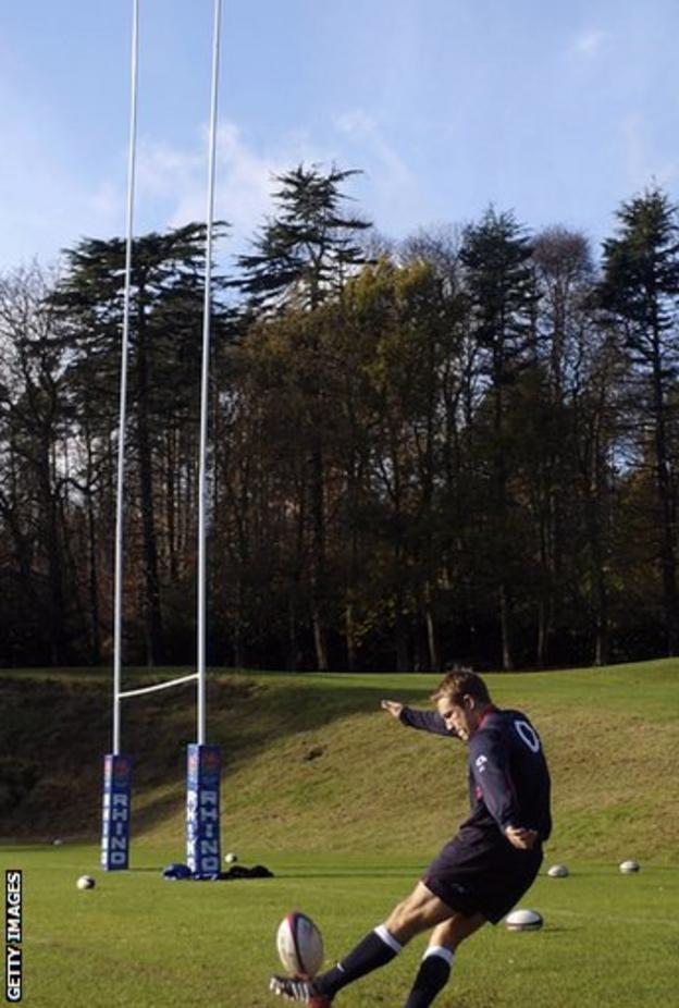 Jonny Wilkinson training in 2002