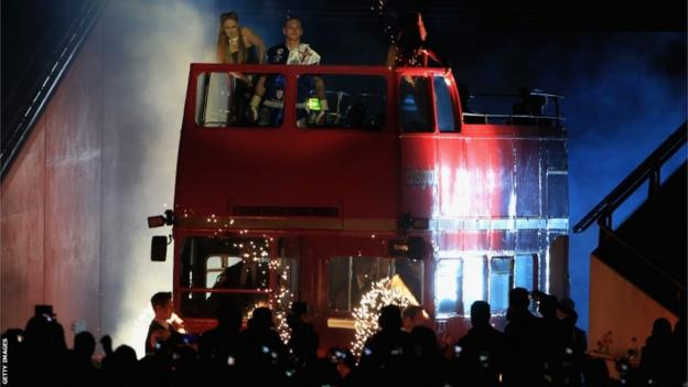 However, it all came together on the night as a record crowd of 80,000 packed into Wembley. Their first glimpse of the two fighters came when George Groves entered the arena on top of a red double-decker bus