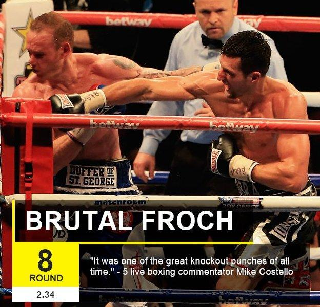 Carl Froch delivers his knock out punch