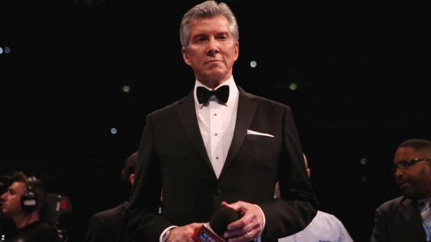 """Legendary master of ceremonies Michael Buffer introduced both fighters before bellowing his famous catchphrase, """"Let's get ready to rumble!"""""""