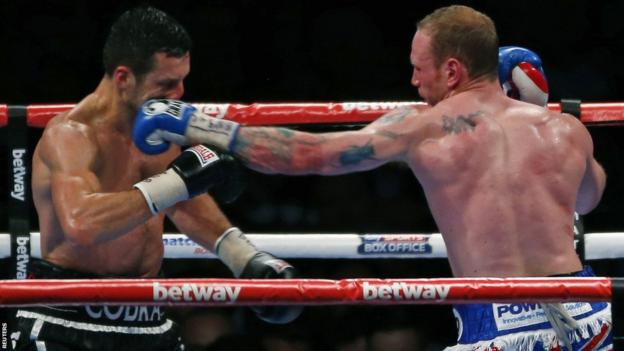 After a cagey opening round, George Groves began to land some powerful counter-punches in the early stages