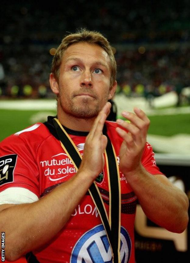 Jonny Wilkinson after his final game for Toulon in the Top 14 final against Castres on Saturday 31 May 2014