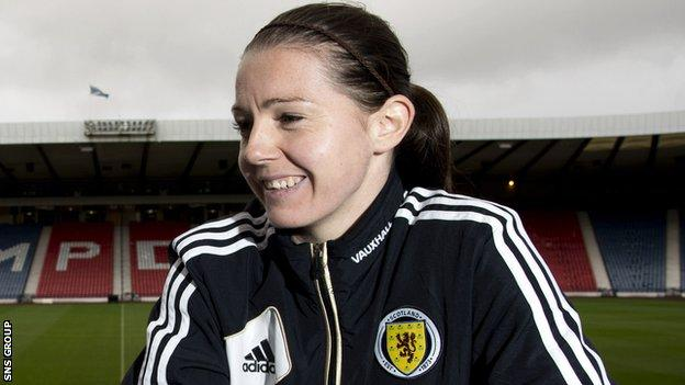 Scotland striker Suzanne Mulvey scored five for Rangers