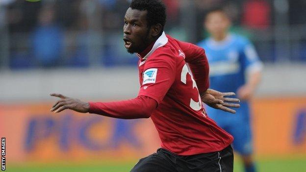 Senegal striker Mame Diouf