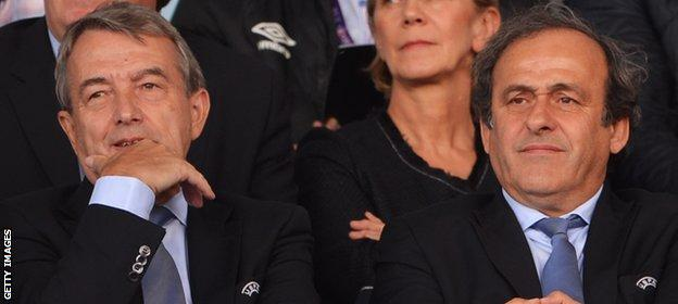 Wolfgang Niersbach and Michel Platini
