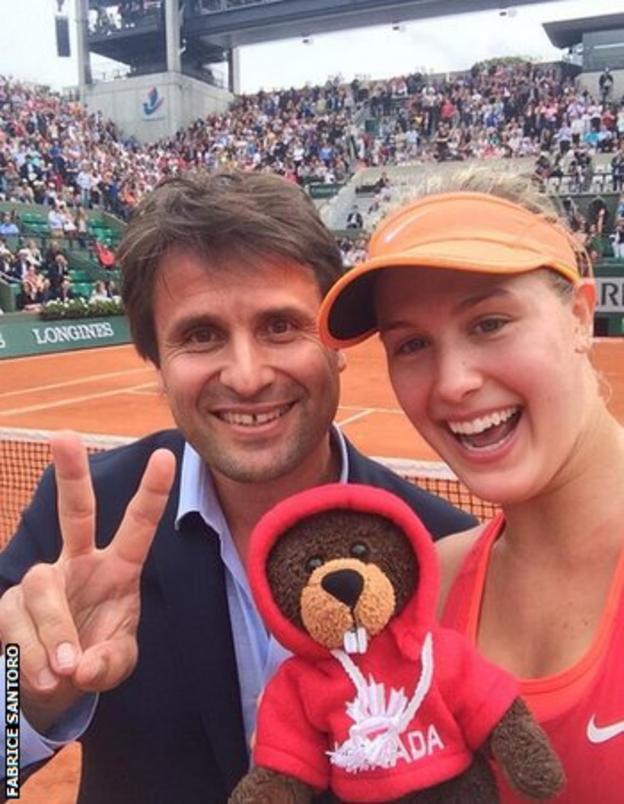 Fabrice Santoro and Eugenie Bouchard