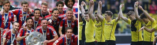 Bayern and Dortmund