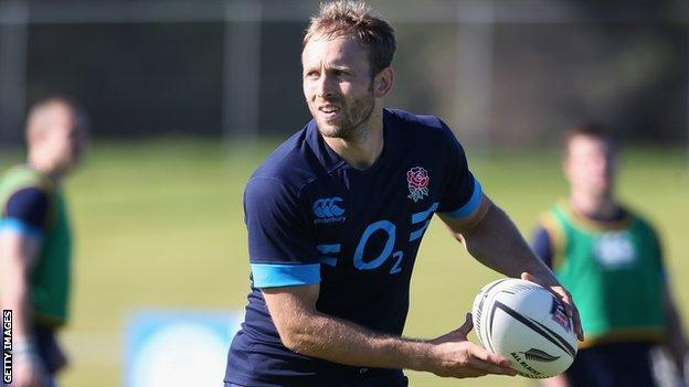 Chris Pennell trains with the England squad in Auckland ahead of Saturday's first Test against the All Black at Eden Park