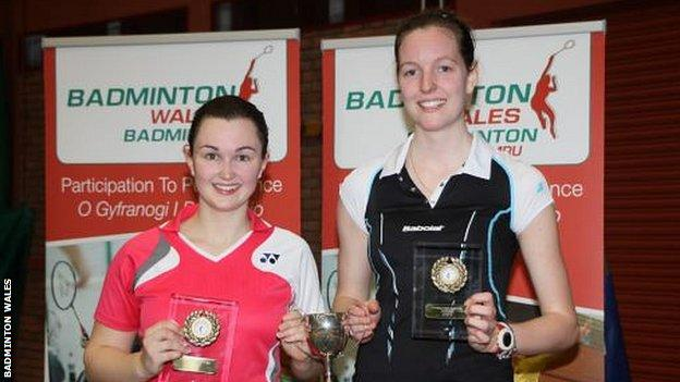 Women's doubles pair Sarah Thomas and Carissa Turner