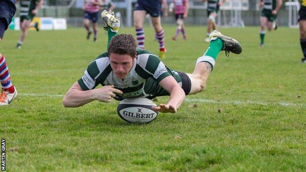 Shane Taylor scores for Guernsey