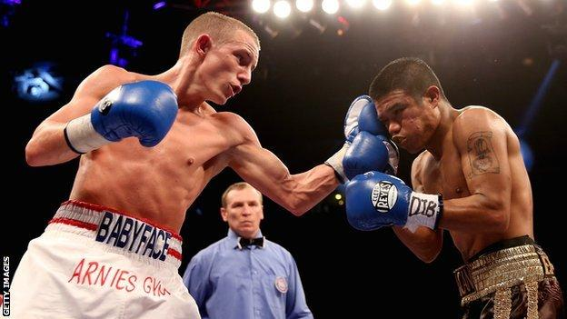 Boxer Paul Butler in action