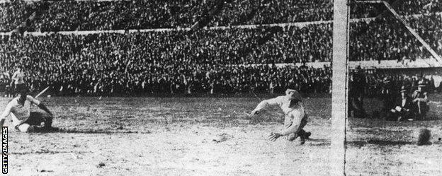 Uruguay win 1930 World Cup