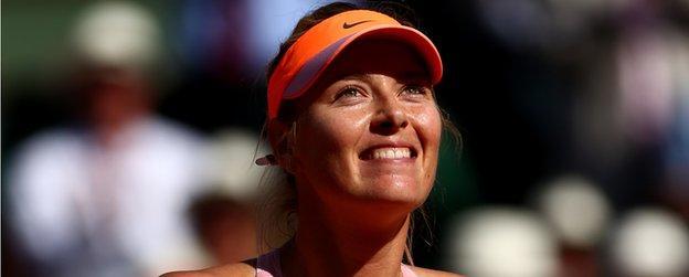 Russian tennis star Maria Sharapova