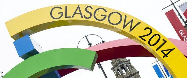 The Big G is unveiled in Glasgow's George Square as part of the 2014 Commonwealth Games