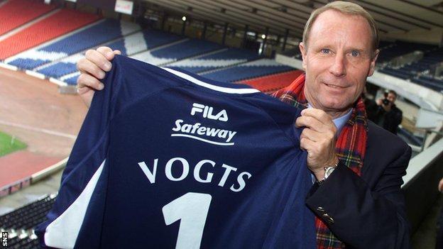 Former Scotland manager Berti Vogts
