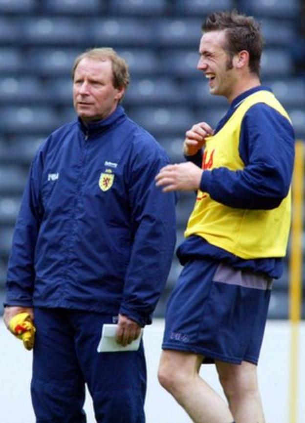 Former Scotland manager Berti Vogts and James McFadden
