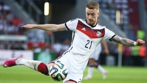 sports shoes 7e01e 299ec World Cup 2014: Marco Reus out with ankle injury - BBC Sport