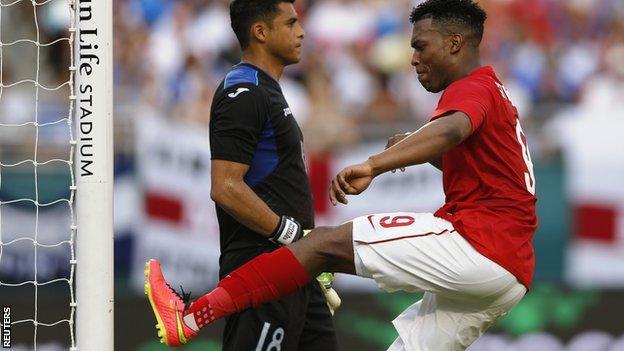 England striker Daniel Sturridge