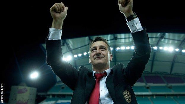 Gibraltar coach Allen Bula