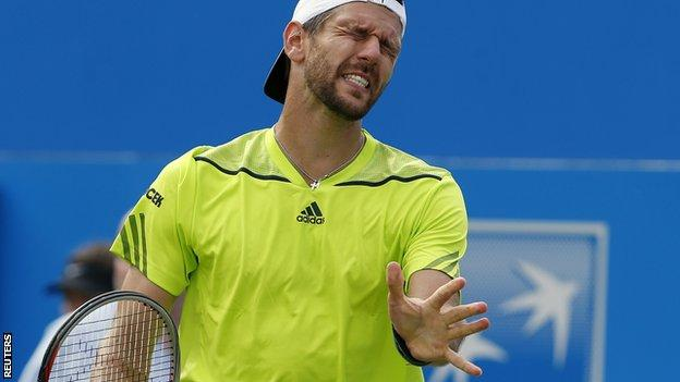 Austria's Jurgen Melzer, who lost to Dan Evans, reached a career-high ranking of eighth in April 2011.