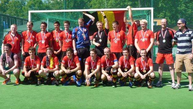 Banbridge celebrate their Champions Challenge success