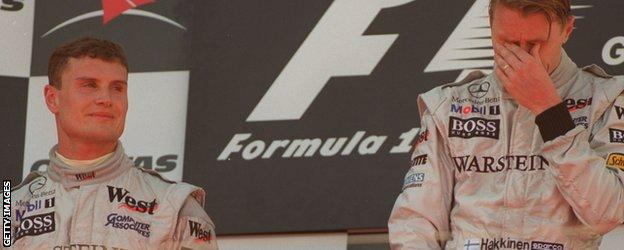 David Coultard and team-mate Mika Hakkinen had a pre-race agreement