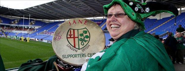 London Irish fans