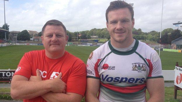 Darren Crompton (left) and Iain Grieve
