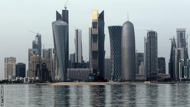 The everchanging skyline in Doha