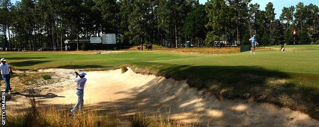 Pinehurst's Number 2 course for the 2014 US Open measures 7,565 yards