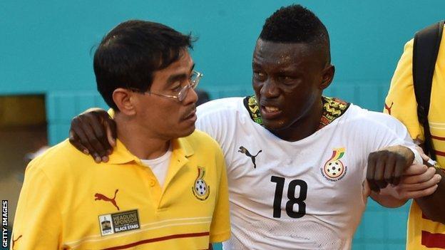 Ghana striker Majeed Waris