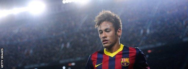 Neymar in Barcelona kit