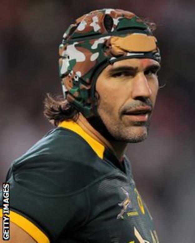 Springboks captain Victor Matfield