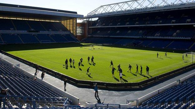 Ibrox Stadium will host the Scots' opening home match