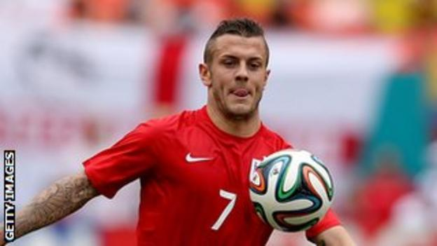Arsenal and England midfielder Jack Wilshere