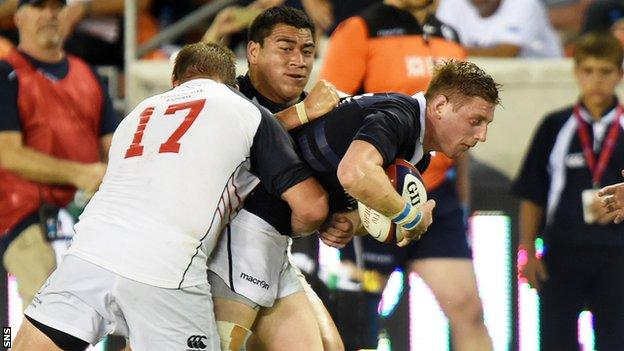 Finn Russell in action for Scotland against USA