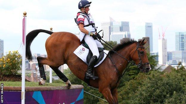 Mary King riding at London 2012