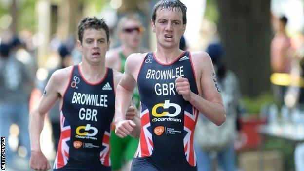 Brothers Jonathan and Alistair Brownlee