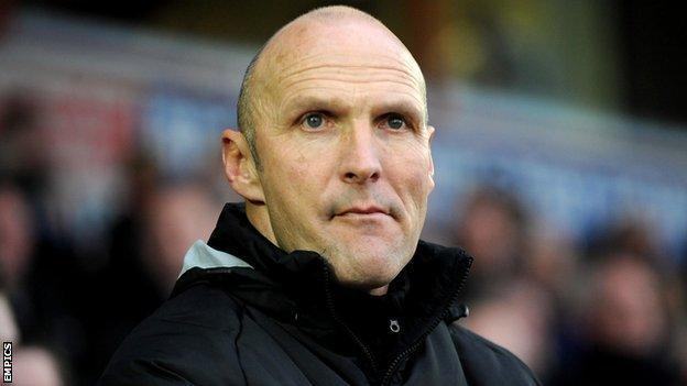 Chester manager Steve Burr