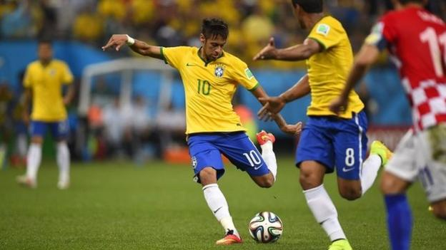 World Cup 2014: Neymar scores long-range equaliser for ...