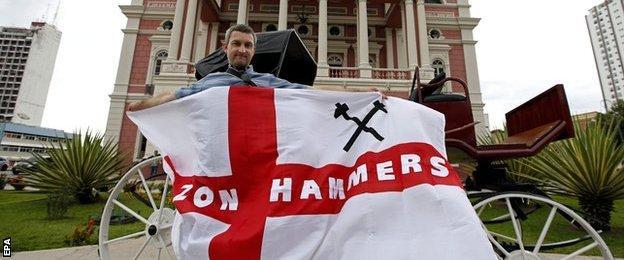 England fan in Manaus