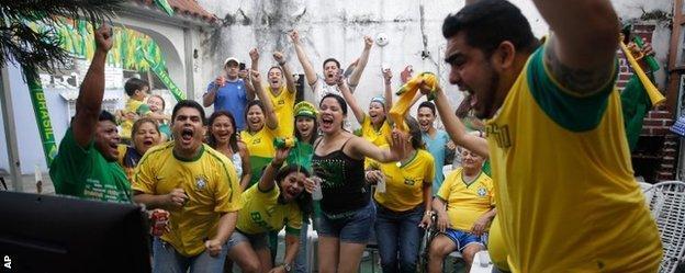 Brazil fans in Manaus