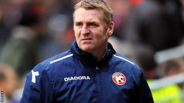 Walsall manager Dean Smith