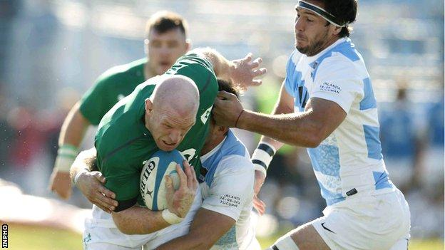 Ireland lock Paul O'Connell was winning his 94th cap in the second Test