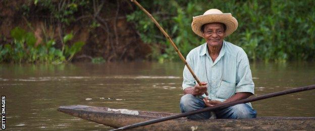 A fisherman in Cuiaba