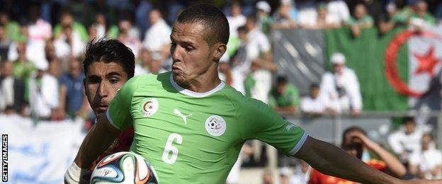 Algeria defender Djamel Mesbah