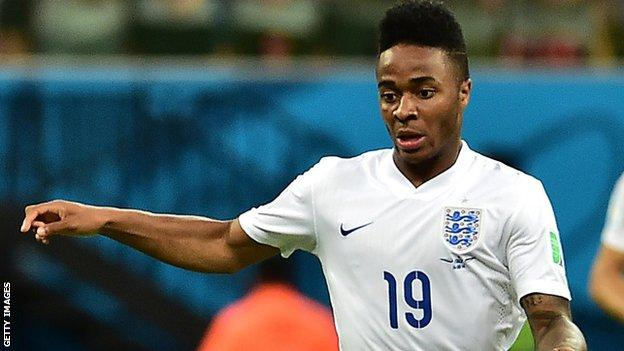 England forward Raheem Sterling